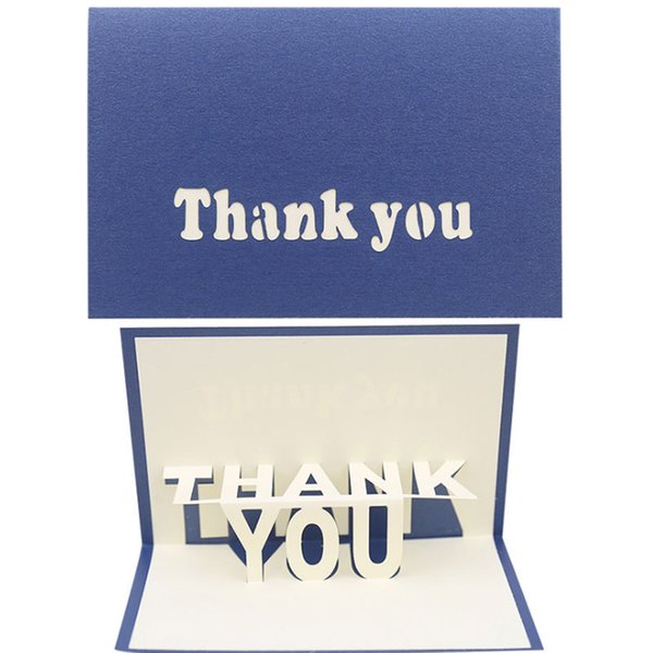 Hot Sale New 3D thank you Invitation Greeting Cards Wedding Party Birthday Mother Teacher Supplies postcard