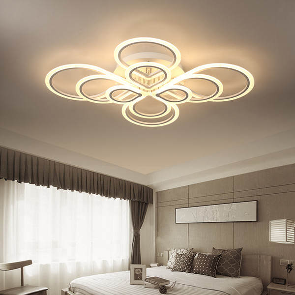 Led Ceiling Lights For Living Room Bedroom Remote Control Lamparas DeTecho Surface Mount AC85 260V White Indoor Lighting Fixture