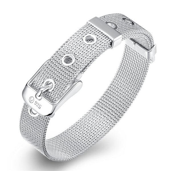 Hot sale best gift 925 silver Small-strap bracelet -10MM DFMCH237, Brand new fashion 925 sterling silver Chain link bracelets high grade