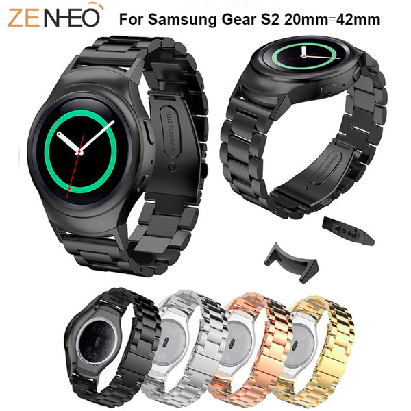 Colorful WatchBand Stainless Steel Wrist For Samsung Gear S2 Watch 42mm Strap For Samsung Gear S2 Smart Watch Bracelet wristband