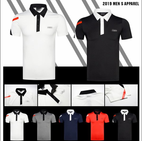 top popular 2019Golf Men's Sportswear Short Sleeve T-Shirt 5colors Clothes S-XXL Free Shipping 2019