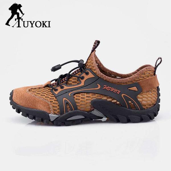 Tuyoki 2019 Hiking Shoes Mountain Climbing Shoes Men Outdoor Hiking Sneakers Waterproof Sport Men Hunting Trekking Size 38-44