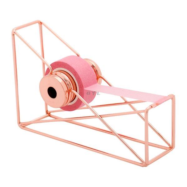Di alta qualità oro rosa Nastro Cutter Washi Tape Storage Organizer Cutter Stationery Office Dispenser Forniture per ufficio