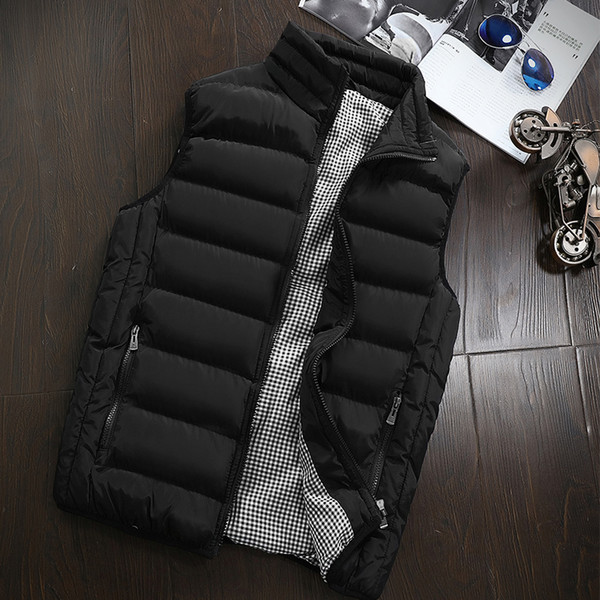 HOT ! Winter men vest Cotton-Padded Men's Vest Jacket Autumn men's winter jackets Sleeveless mens warm vests Coat male 99999