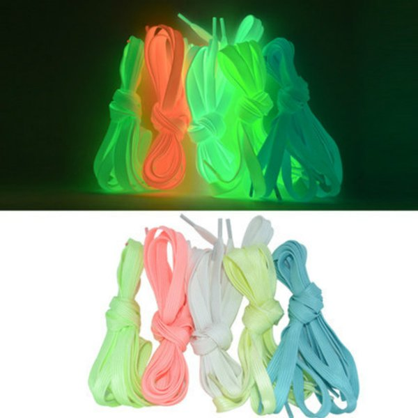 1 pair 120CM 8MM Sport Shoelace Luminous Toys Canvas Shoes Accessories Glow In The Dark Toys Gift For Children Roller Skates