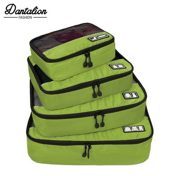 "New Breathable Travel Bag 4 Set Packing Cubes Luggage Packing Organizers Weekend Bag Shoe Fit 23"" Carry on Suitcase"