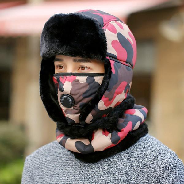 Mens Super Warm Cappelli di pelliccia Donna Inverno Scaldacollo Outdoor pile Berretti da sci Passamontagna Cappellino impermeabile Ciclismo Maschera Skullies