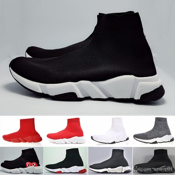 2019 New Designers Sneakers Speed Runner Fashion Shoes Sock Triple Black Boots Red Flat Trainer Men Women Casual Shoes Sport With GJN6H