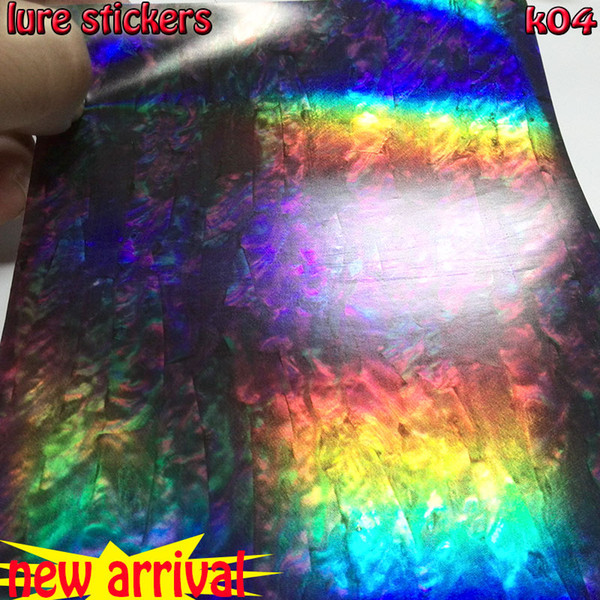Cheap Fishing Lures big size 10CM*15CM NEW LURES STICKER fly tying fish skin SIZE K04 10papers/lot