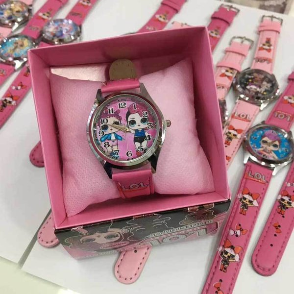 top popular dhl free Children Wristwatch girls Cartoon doll Watches With Boxes Christmas Gifts zx02 2020