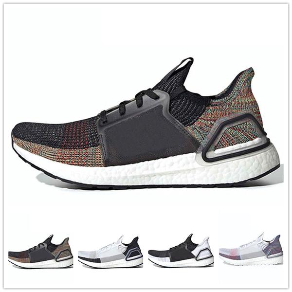 Designer shoes Adidas men women Bulut Beyaz Siyah Ultra boost 2019 Ultraboost erkek Koşu ayakkabı Refract Temizle Kahverengi Primeknit 4.0 spor eğitmeni erkek bayan sneakers 36-45