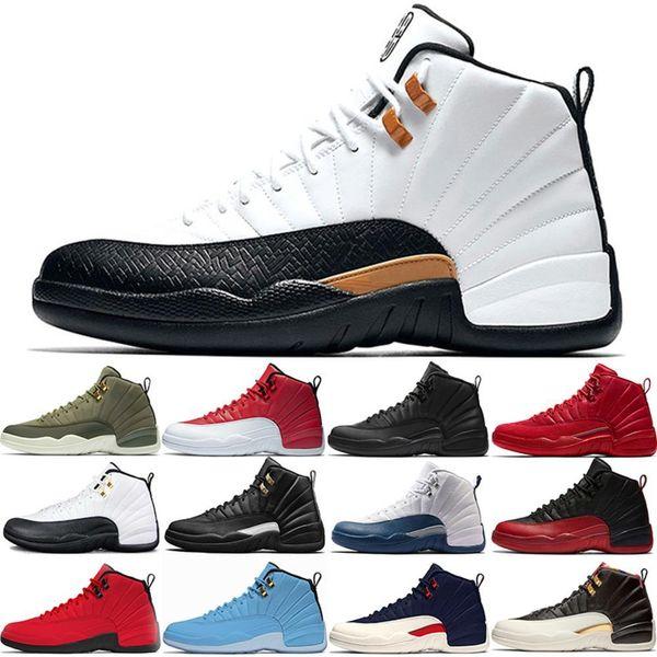 12 s 12 Erkek Basketbol Ayakkabıları Usta Cny Grip Oyunu Midnight Siyah Taksi Xii Tasarımcı Eğitmenler Spor Sneakers Boyutu 41-47 Online Satış