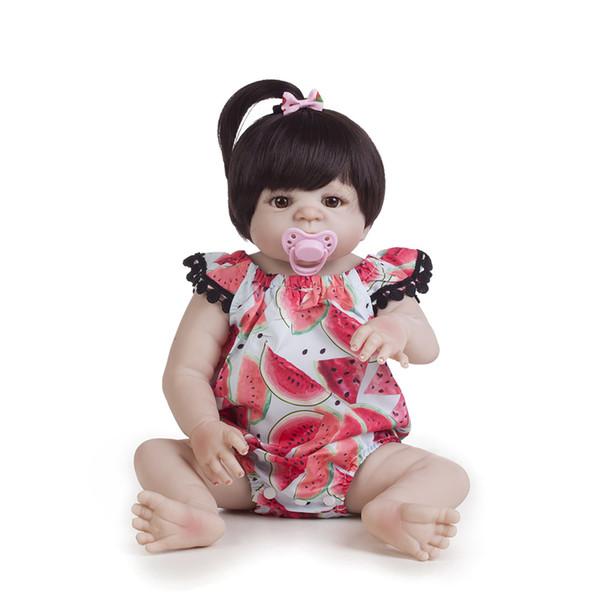 22 Polegada 55 cm bonecas Reborn silicone cheio reborn bebê menina bonecas Meninas Banho Real Real Vinil Bebe Brinquedos Reborn Bonecas