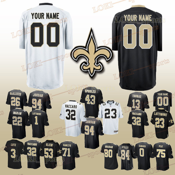 New Orleans 33 Saints jerseys 23 Marshon Lattimore 88 Dez Bryant 41 Alvin  Kamara 28 Adrian Peterson Can be customized jersey 2019 340097024