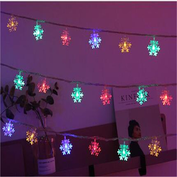 Colored Snowflakes LED Small Colored Flashing Lights String Lights Star  Lights Christmas Snowflake Decorations Room Bedroom Star Light Find  Christmas ...