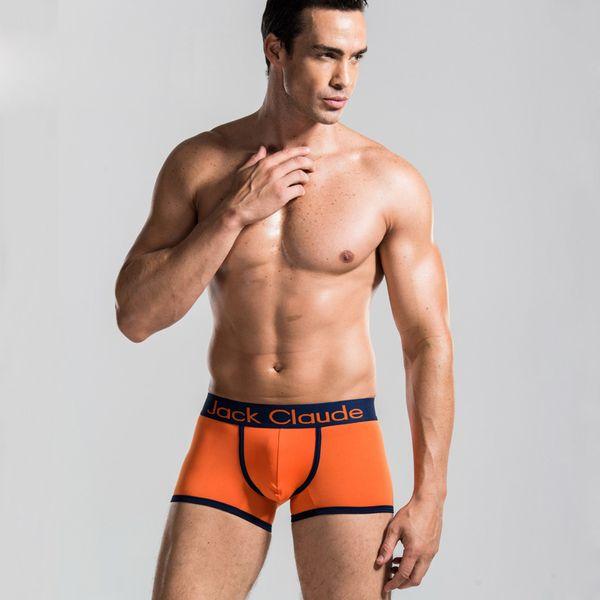 Mens Underwear Boxers Cueca Cueca Calzoncillos Largo-Brimmed De Fibra De Leite Convexo Calções Boxer dos homens Casuais 2XL