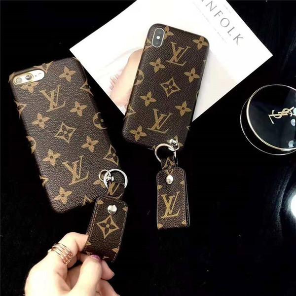Cas de téléphone de défilé de mode de Paris pour Iphone7 7 plus Iphone Cases de luxe affaire en cuir d'unité dure en couverture arrière pour iphone8 plus le bateau de baisse