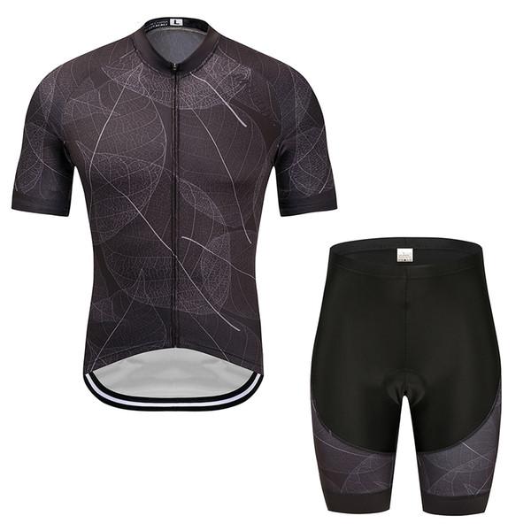 2019 NEW Black cycling jersey bike shorts set Ropa Ciclismo MENS summer quick dry BICYCLING Maillot pants clothing triathlon