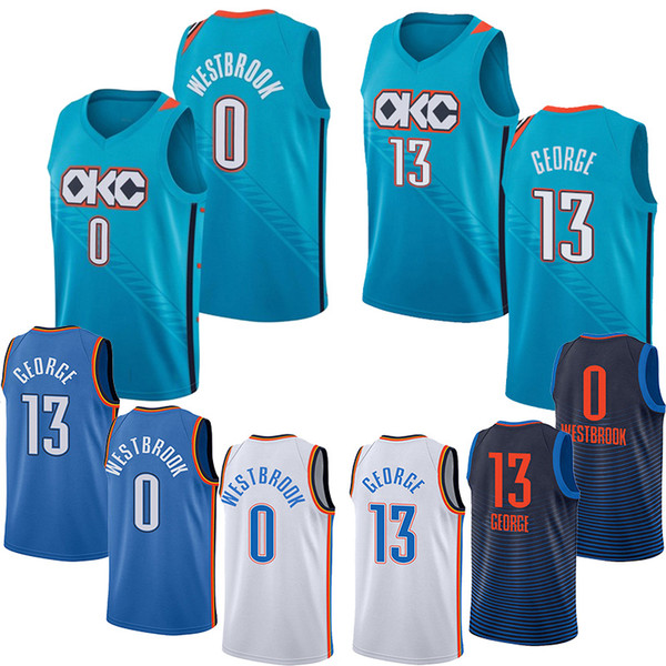 great fit c7a3a 02ea5 2019 OKC 0 Westbrook Thunder Jerseys Carmelo 7 Anthony Jerseys 13 George  Russell Jersey From Cheap_sell_jerseys, $19.77 | DHgate.Com
