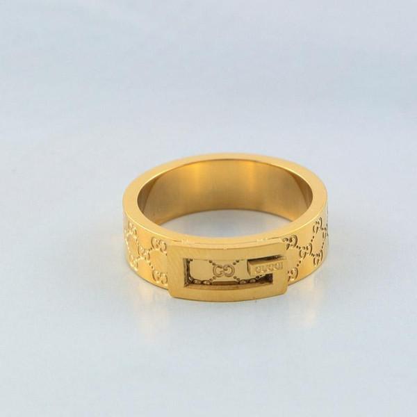 Mode Brief Design Band Ringe Berühmte Marke Edelstahl Paar Ring Frauen Männer Luxus Hochzeit Ringe Rose Gold Silber Schmuck Liebhaber Geschenk