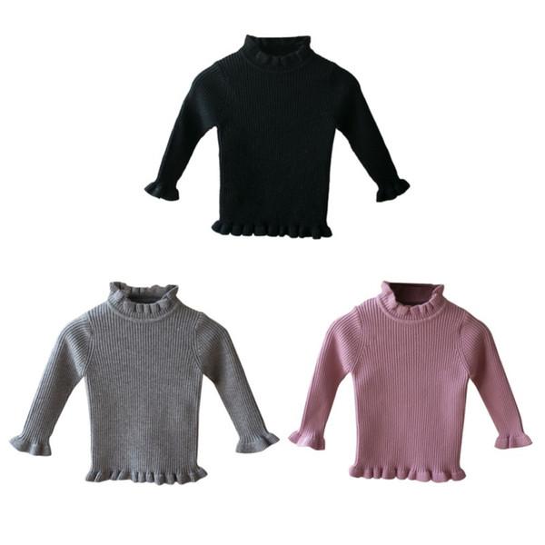 9efe10ee3e31 Plus Velvet Sweater Baby Kid Girl Fashion Winter Long Sleeve Warm ...
