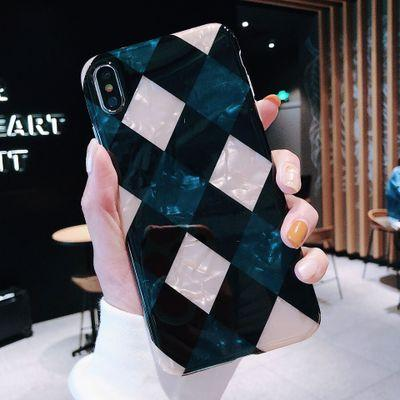 Rhombic shell pattern for 8plus iphone XS Max mobile phone case iPhoneX/XR/7p/6s soft shell female models