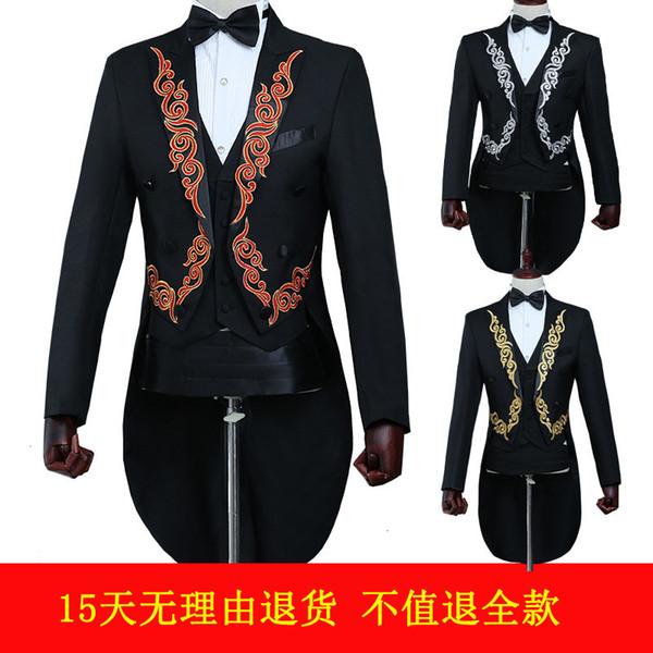 Человек ласточкин хвост шоу служить жених жениться костюм мужской костюм самосовершенствование хозяин церемониймейстер взрослых волшебное представление полное платье