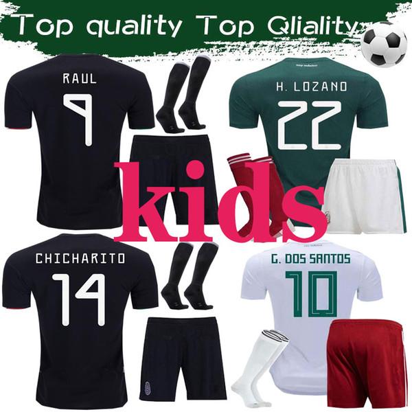 Üst CHICHARITO forması 2020 Camiseta Meksika çocuklar futbol gömlek CARLOS RAUL M. LAYUN VELA H. LOZANO SOCCER JERSEY Tay Kalitesi Maillot de fo
