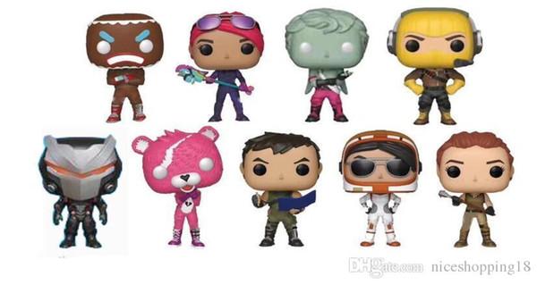 Maintenant 9 discout style Fortnite POP plastique Doll New Kids Cartoon 10cm Jeu Fortnite Llama Ours rose Figurine Toy Nouveauté