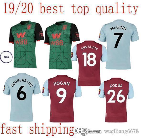 top quality 2019 Aston Villa soccer jerseys home away 3rd 19 20 WESLEY GREALISH KODJA EL GHAZI CHESTER McGinn TARGETT football jersey shirts