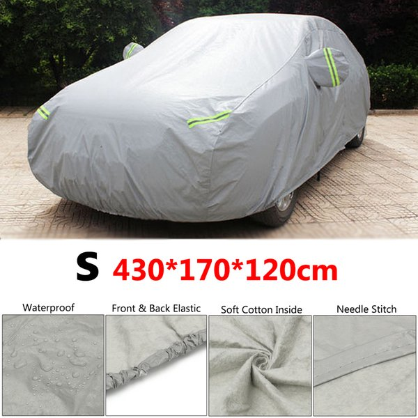 top popular S Size 430x170x120cm Full Car Cover Snow Ice Resistant Rain Sun Shade Protection Waterproof Dustproof Covers 2020