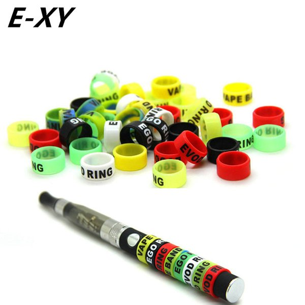 wholesale 30pcs Ecig silicone bands 13mm vape ring for ego series batteries decorative and protection resistance vape bands