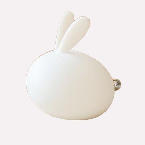 Veilleuse à LED pour enfants, lampe de pépinière de bébé en silicone doux de lapin sensible au contrôle du robinet multicolore pour les enfants