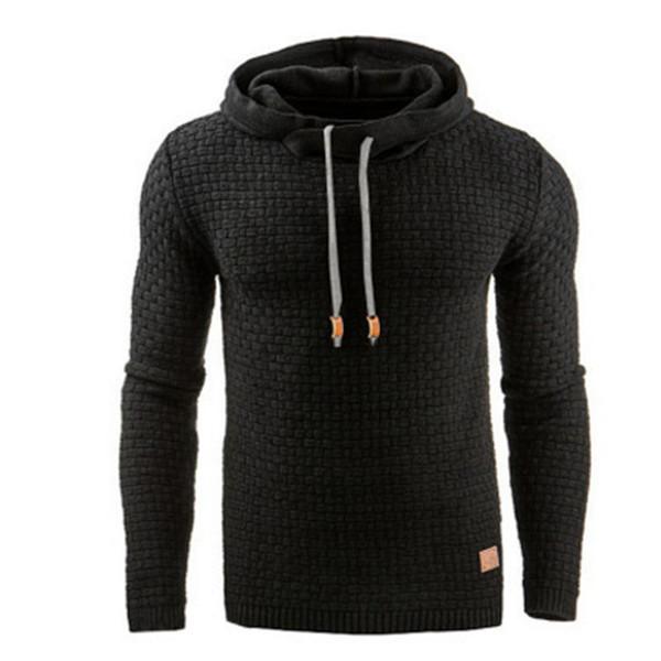Fashion Men Brand Hoodies Autumn Casual Pullovers Plaid Male Solid Hoodies Sportswear Long Sleeve Hooded Sweatshirt
