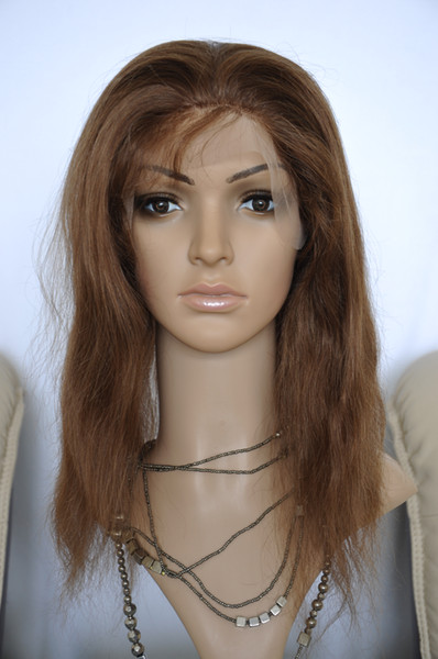 Perruque en dentelle de cheveux humains vierges brésiliens n ° 4 droit