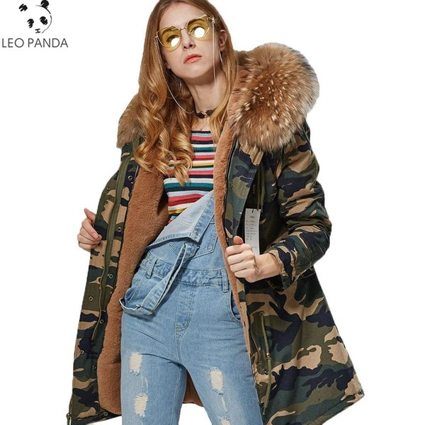 New Fashion Spring Autumn Warmth Thicken Loose Coat Women Zipper Raccoon Dog Fur Hooded High-quality Female Fanx fur Coat CY380