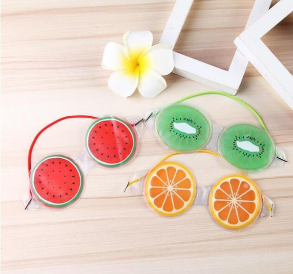 DHL free Hot Gel Eye Mask Sleep Mask Cover Cold Pack Ice Cool Soothing Tired Eyes Headache Pad