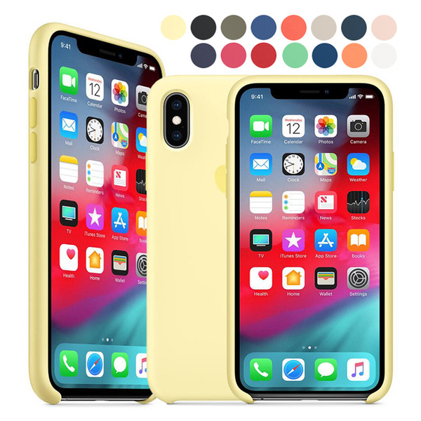 best selling Official Genuine Liquid Silicone Case For Apple iPhone X XR XS Max iPhone 8 7 6S 6 Plus Protection Cover