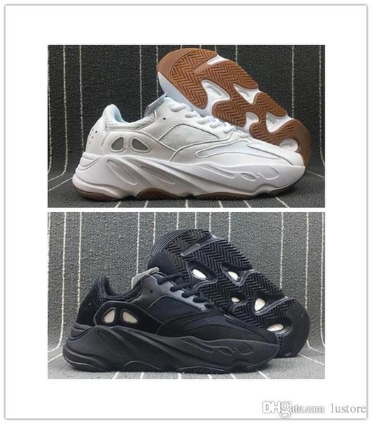 Meilleure qualité Kanye West 700 Seankers Sports Chaussures de course Nouveau Hommes Femmes Baskets Haute Qualité Sport Chaussures lustore taille US7-US12