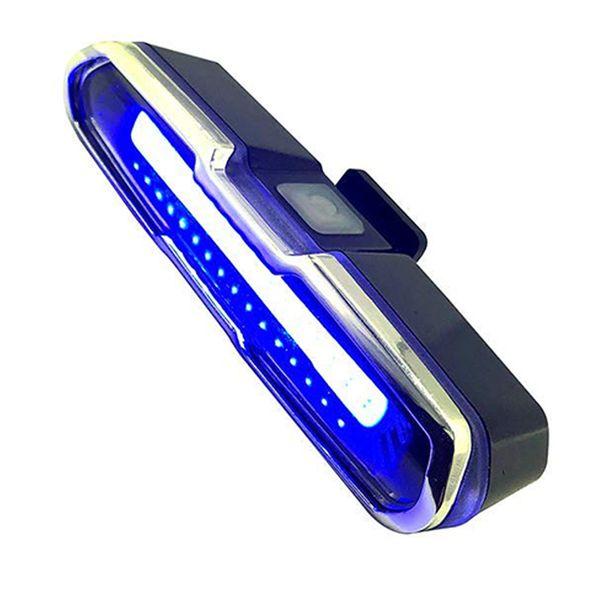 LED Bisiklet Kuyruk Işık Kırmızı Mavi USB Şarj Edilebilir Su Geçirmez Süper Parlak Çok Amaçlı Acil Işık