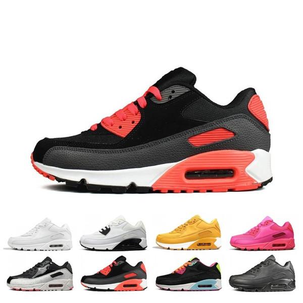 pas cher vente 90 90 hommes femmes chaussures de course Triple noir blanc rouge cny oreo jogging Outdoor Trainer chaussures de sport mens sneaker eur 36-45