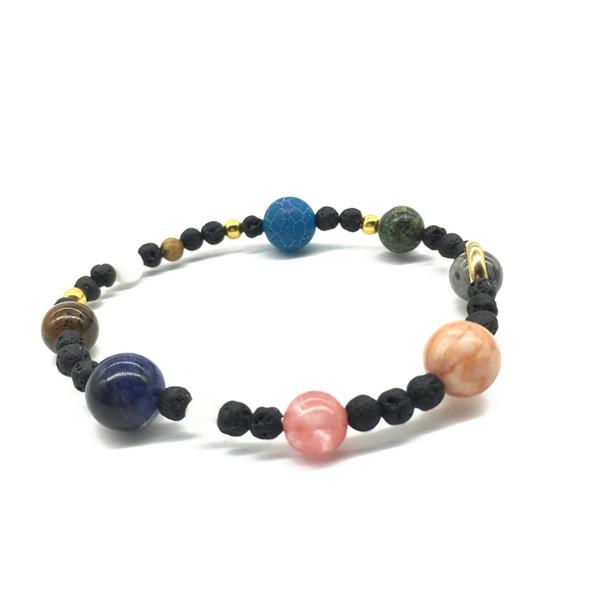 Hübsche Energie Armband schöne Frauen Universum Planeten Chakra Perlen Armbänder Armreifen Modeschmuck Sonnensystem Naturstein Armband