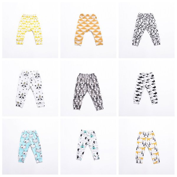 Kids Pants Leggings INS 2019 Baby Gilrs Boys Cute Printed PP Skinny Pants Long Pants Tights Kids Clothing 21Colors Q166