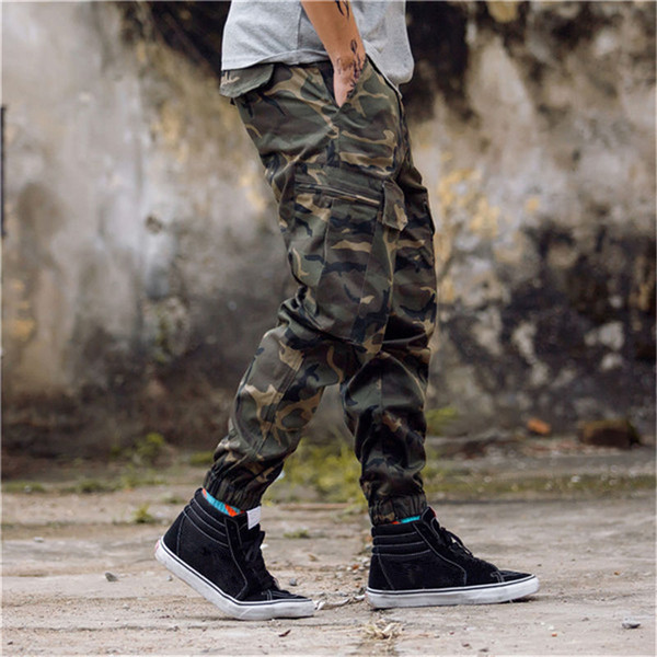 cheap huge discount exquisite style 2019 New Arrival Mens Pants Fashion Camouflage Jogging Pants Womens Zipper  Overalls Beam Foot Trousers Irregular Joggers Pants From Fashion_garments,  ...