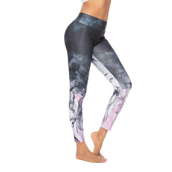 ISHOWTIENDA 2019 Women's Leggings tight-fitting Digital Printed Yoga Pants Sports Bottom Pants Tight Sports Yoga #4