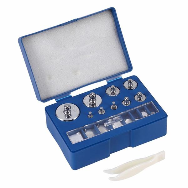 Digital calibración de la escala de peso de 10 mg -100g escala de la joyería de acero inoxidable de calibración Peso Set Pinzas Herramientas de ponderación