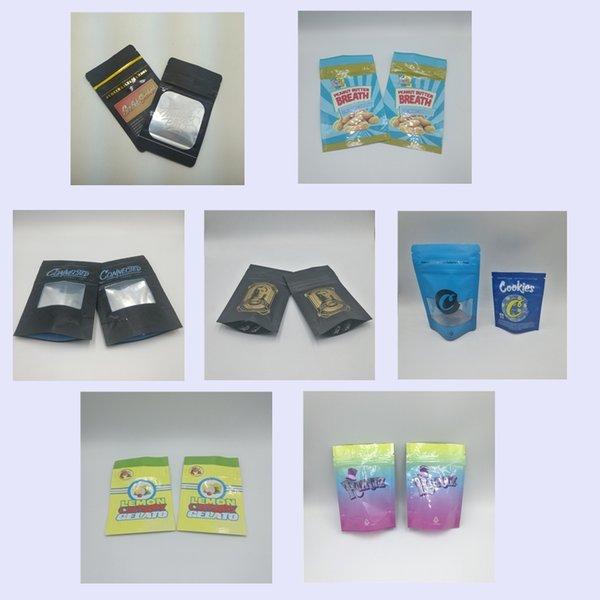 best selling Popular Custom Printed Runtz Jungle Boys Cookies Connected Billy Kimber OG Lemon Cherry Gelato Packaging Stand Up Mylar Bags