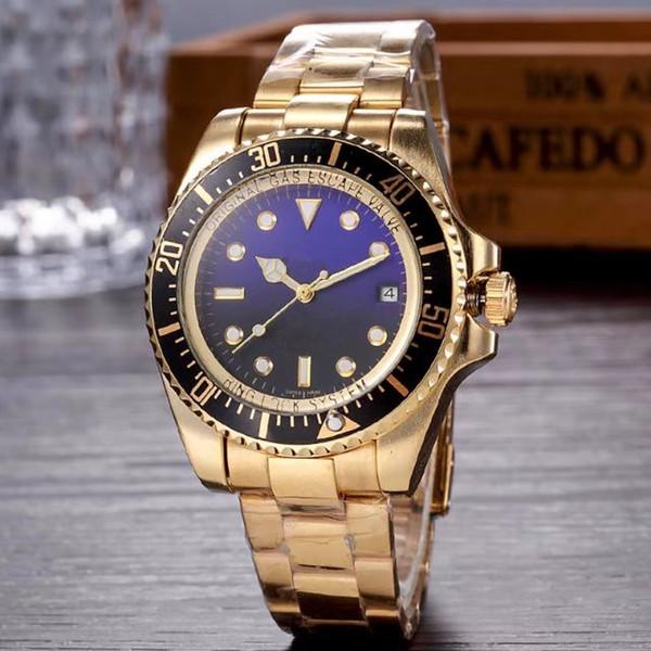 44 MM relogio masculino relojes para hombre Diseñador de moda de lujo Calendario de marcación de acero inoxidable Cierre desplegable Maestro Hombre Reloj para hombre Gran escala