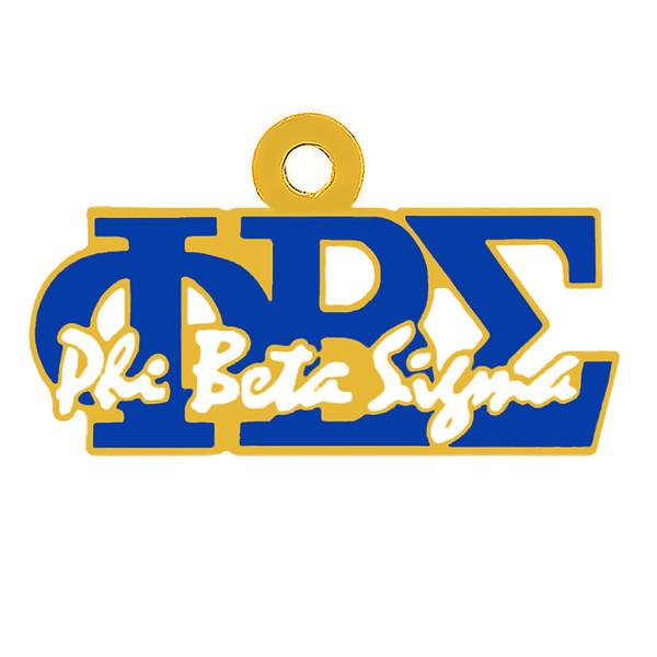 Personalizzati lettere in metallo smalto color fascino PHI BETA SIGMA per il college società greca gioielli ciondolo fraternità