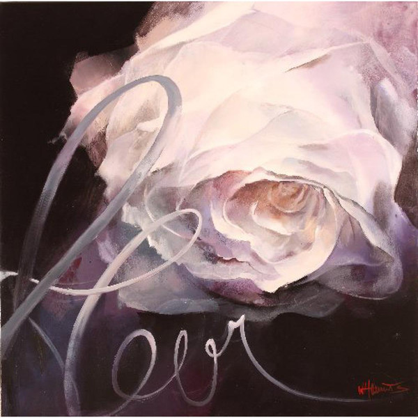 Hand painted flowers oil paintings Floer with the name Fleur Willem Haenraets canvas art for wall decor